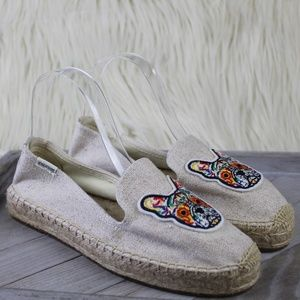 Soludos French Bulldog Espadrille Smoking Slippers
